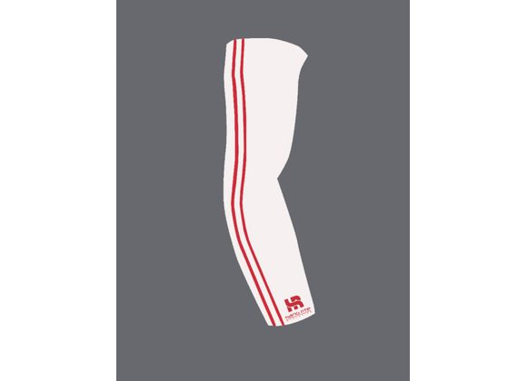 HR ARM SLEEVE WHITE/RED
