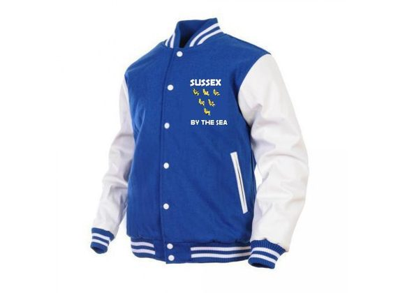 Sussex By The Sea Baseball Jacket