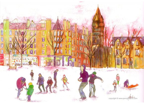 Bruntsfield in The Snow, Edinburgh