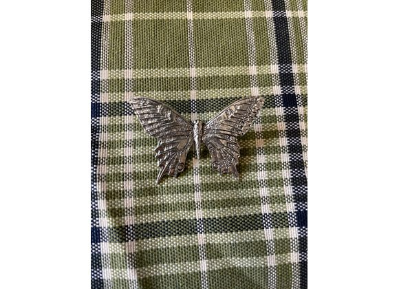 Pewter Butterfly Pin Badge